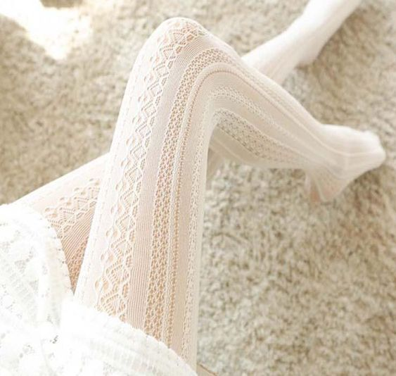 bridal look outfit winter wedding tights