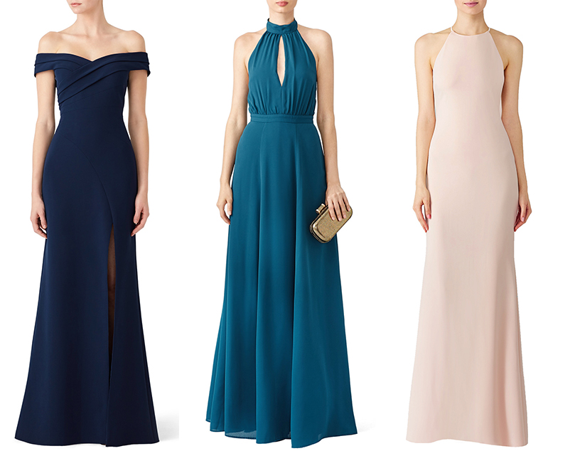 bridesmaid dress rent the runway wedding look outfit maid of honor eshop