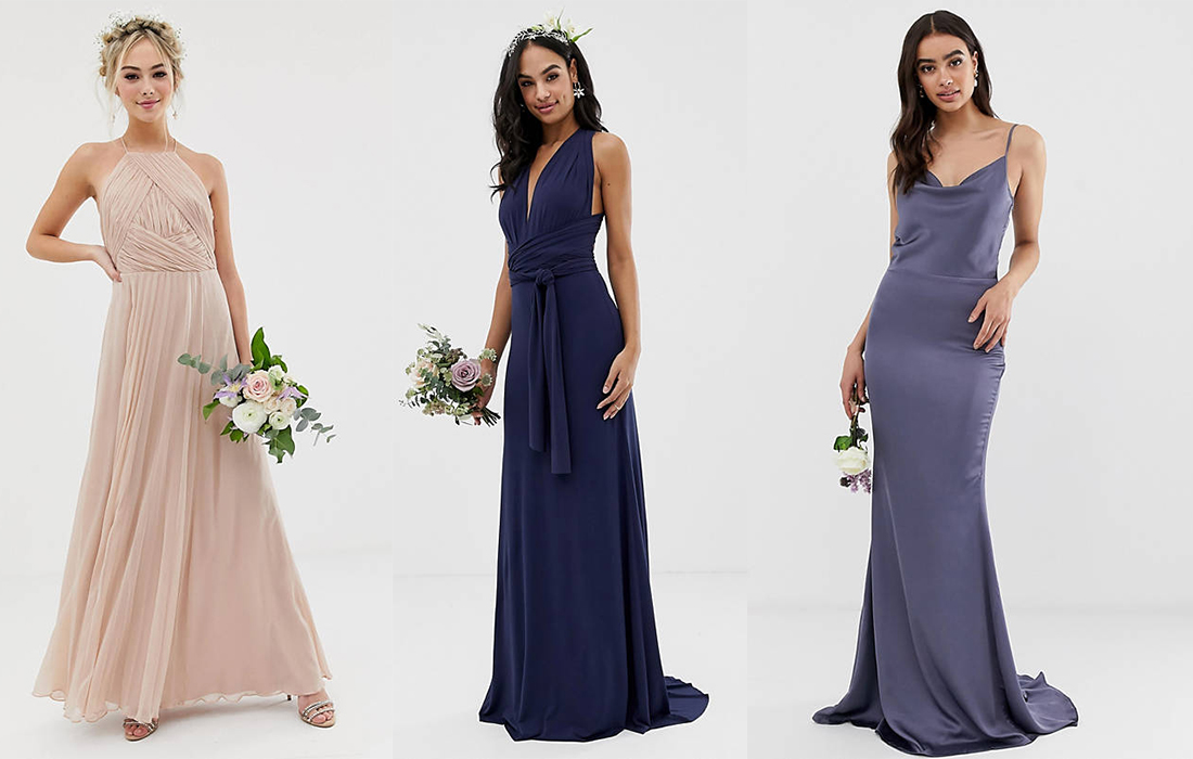 look asos bridesmaid dress outfit wedding affordable maid of honor