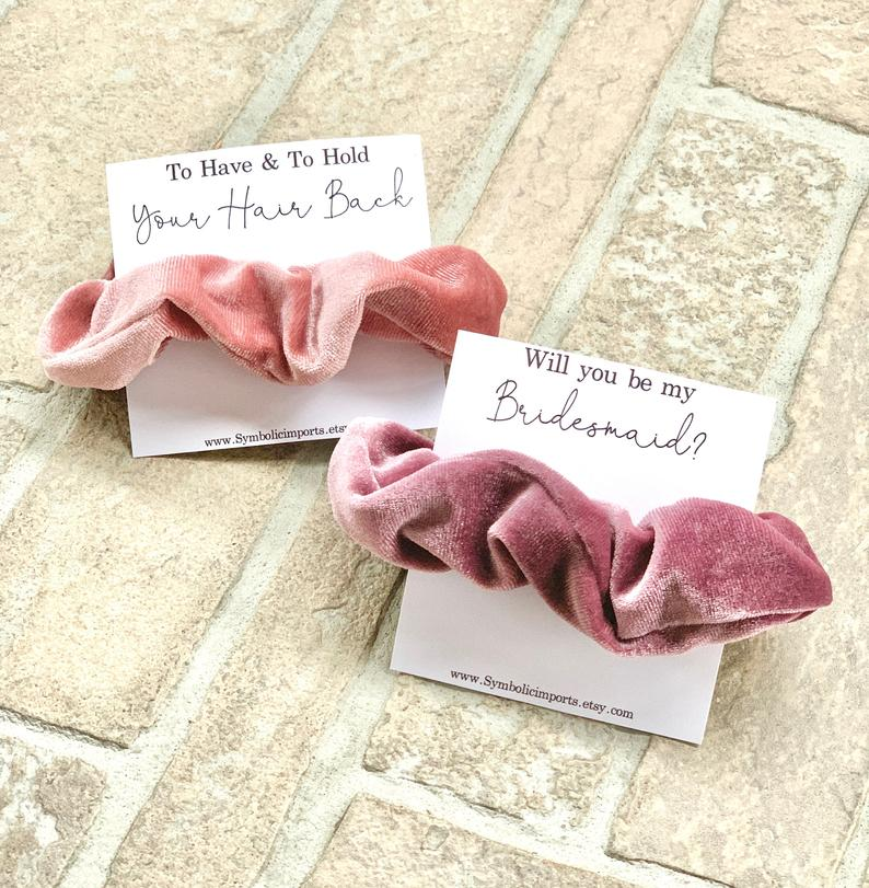 hair tie scrunchies bridesmaid SymbolicImports gift wedding Provence