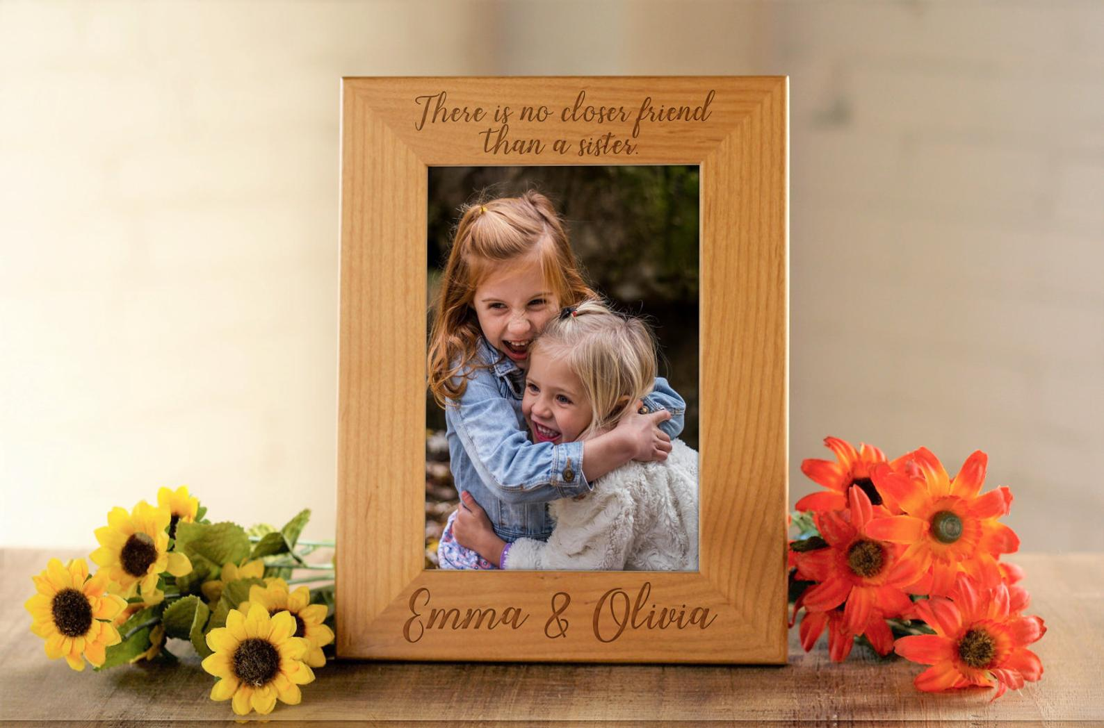 picture frame personalized bridesmaid proposal gift memories image wood wedding gift