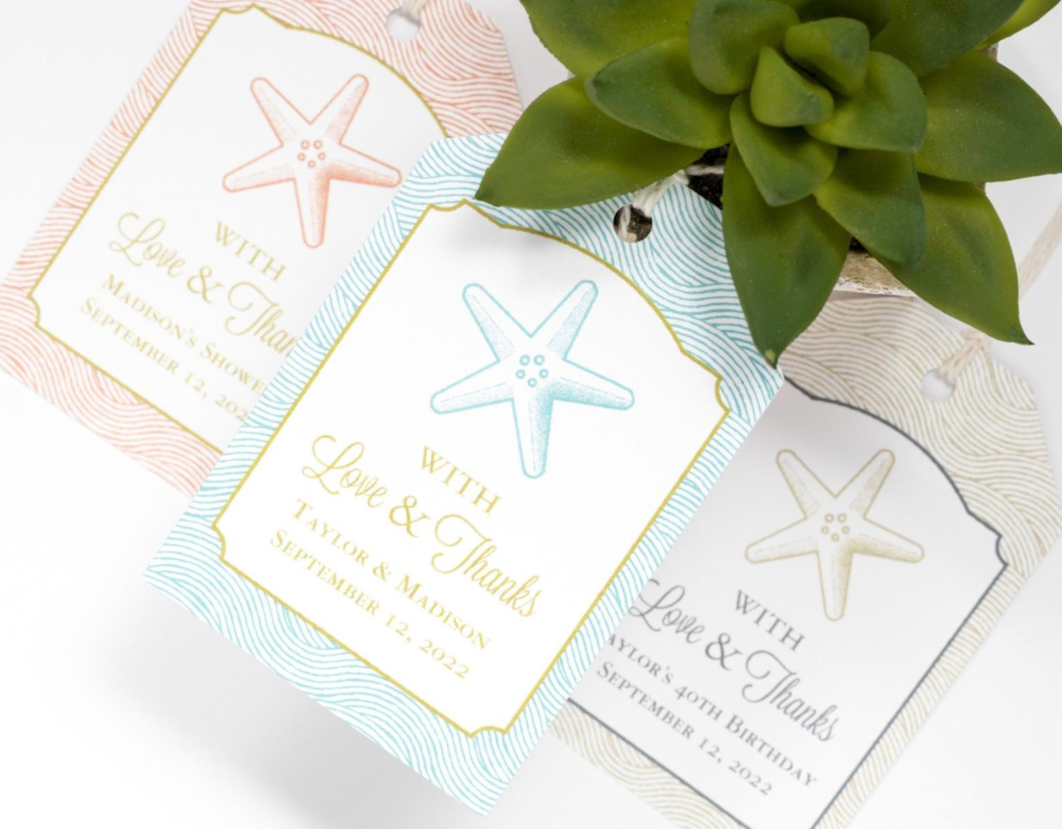 beach wedding favors tag