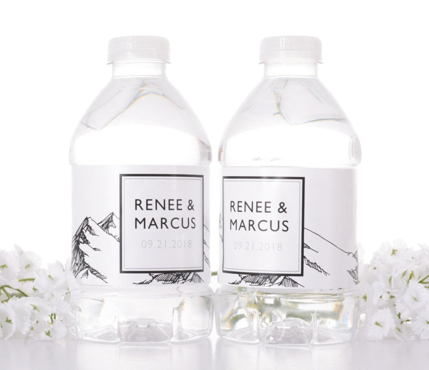 wedding personalized water bottles