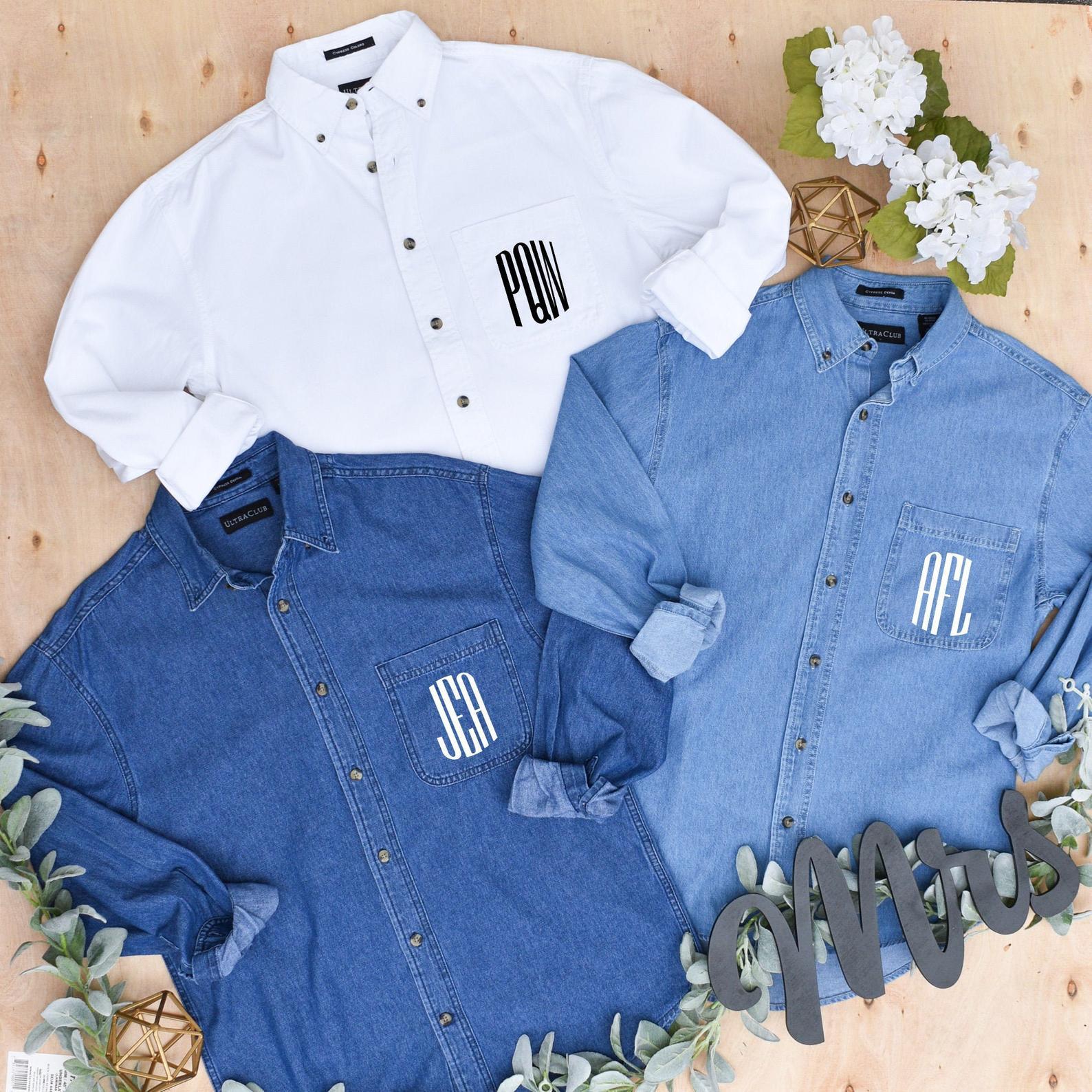 bridesmaids jean shirts